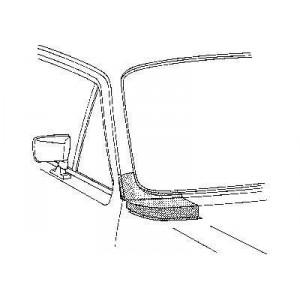 Coin sous pare brise Droit Volkswagen Golf Cabriolet