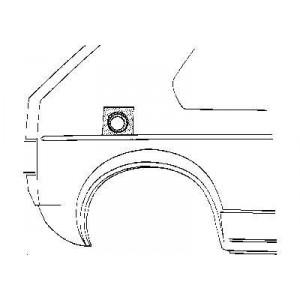 Tôle Bouchon d'essence Volkswagen Jetta Type 17