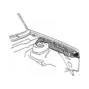 Fixation d'aile avant gauche Volkswagen Golf Cabriolet