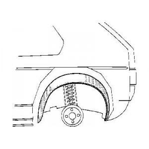 Arc d'aile intérieur Gauche Volkswagen Jetta Type 17