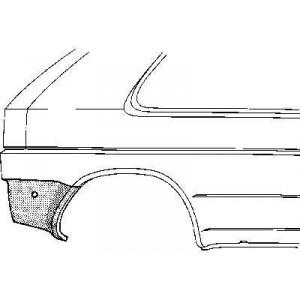 Coin bas d'aile arrière Droit Volkswagen Golf II