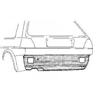 Panneau sous pare choc arrière Volkswagen Golf II