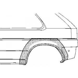 Arc d'aile arrière Gauche Volkswagen Golf II (3 portes)