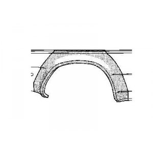 Arc d'aile arrière Droit Volkswagen Golf II (5 portes)