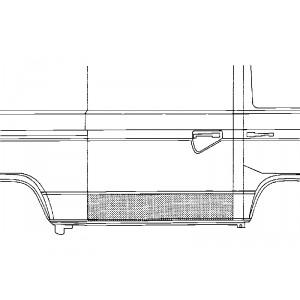 Panneau de porte de charge droit Volkswagen Transporter T4