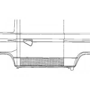 Panneau de porte de charge gauche Volkswagen Transporter T4