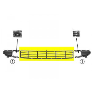 Grilles pare choc Ford Galaxy (centrale)