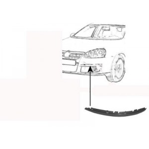 Moulure de pare choc avant gauche Volkswagen Golf V Break