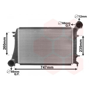 Intercooler Volkswagen Caddy 1.9 TDI 2005+