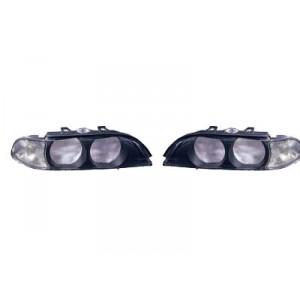 2 Verres de phare avant (clignotant blanc / phase 1) BMW Série 5 E39 04/1996 à 09/2000