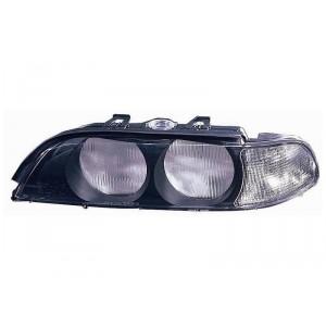 Verre de phare avant gauche (clignotant blanc / phase 1) BMW Série 5 E39 04/1996 à 09/2000