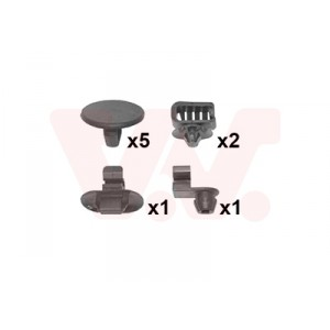 Kit de fixations aile avant Citroen C3 2002-2009