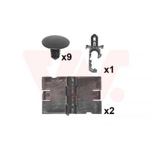 Kit de fixations capot avant Renault Captur I 2013-2019 (phase 1 et phase 2)