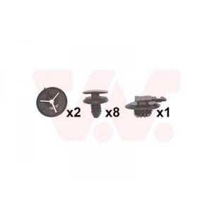 Kit de fixations pare-choc arrière Peugeot 207 2006+