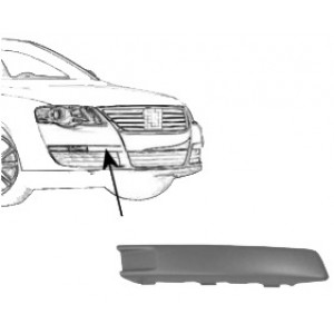 Moulure de pare choc avant droite Volkswagen Passat (de 02/2005 à 11/2010)
