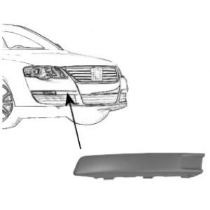 Moulure de pare choc avant gauche Volkswagen Passat (de 02/2005 à 11/2010)