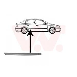 Protection porte arrière droite Opel Astra G 1998-2004 (pièce de carrosserie de couleur noir)