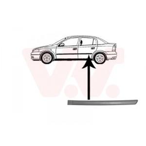 Protection porte arrière gauche Opel Astra G 1998-2004 (pièce de carrosserie de couleur noir)