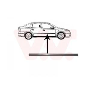 Protection porte avant droite Opel Astra G 4/5 portes 1998-2004 (pièce de carrosserie de couleur noir)