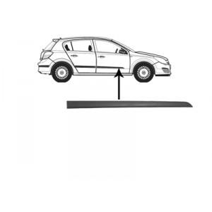 Moulure porte avant droite Opel Astra H (Plastique Noir) 2004-2010