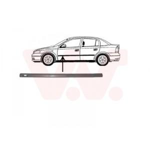 Protection porte avant gauche Opel Astra G 4/5 portes 1998-2004 (avec trou pour écousson / pièce de carrosserie de couleur noir)