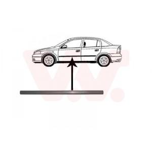 Protection porte avant gauche Opel Astra G 4/5 portes 1998-2004 (pièce de carrosserie de couleur noir)