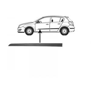 Moulure porte avant gauche Opel Astra H (Plastique Noir) 2004-2010
