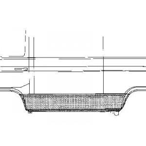Panneau latéral inférieur gauche Volkswagen Transporter T3 1980 - 1992