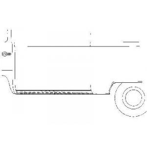 Panneau latéral inférieur gauche Volkswagen Transporter T2 1968 - 1979