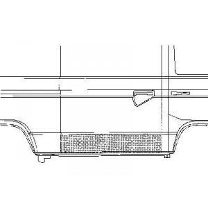 Panneau porte de charge Volkswagen Transporter T3 1980 - 1992