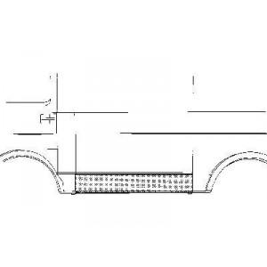 Panneau latéral gauche Volkswagen LT (inférieur) 1975 - 1996