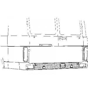 Panneau sous pare choc Volkswagen LT 1975 - 1996