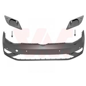 Bouclier avant VW Golf 7 2017+ (phase 2 / avec trous radar avant et gicleurs de lave-phare / pièce de carrosserie à peindre)