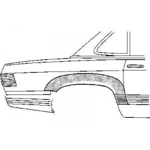 Passage de roue arrière droit Mercedes SL W107 1971-1989