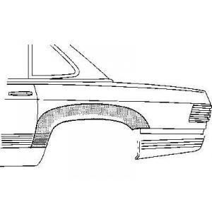 Passage de roue arrière gauche Mercedes SL W107 1971-1989