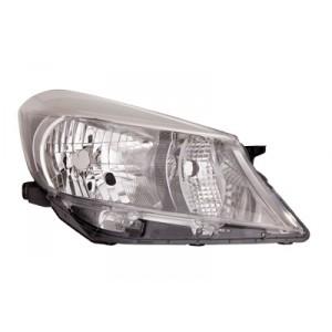 Optique de phare avant droite Toyota Yaris 2011-2014 (intérieur de couleur fumée)
