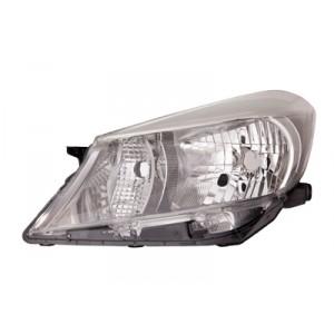 Optique de phare avant gauche Toyota Yaris 2011-2014 (intérieur de couleur fumée)