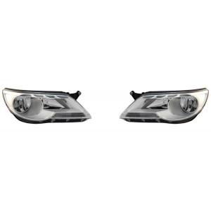 2 projecteurs avant VW Tiguan 1 2007-2011 (phase 1)