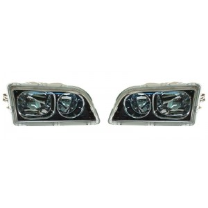 Optiques Volvo V40 / S40 2002-2003 - intérieur noir chromé
