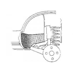 Pare boue arrière droit ou gauche audi 80 (1978-1984) et audi 90 (1984)
