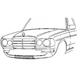 Revêtement avant Mercedes (E) W123 1976-1985