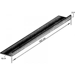 Tôle en acier zingué profilée en L : 1500 x 1.25 (mm) (tôle universelle)