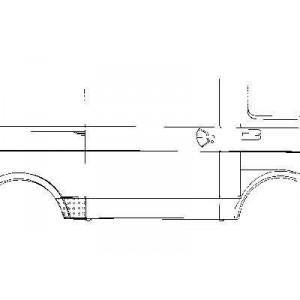 Tole latérale droite Volkswagen LT 1975 - 1996