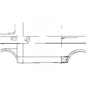 Tole latérale gauche Volkswagen LT 1975 - 1996