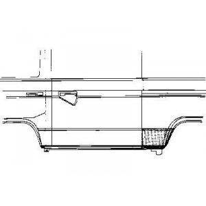 Tôle latérale arrière gauche Volkswagen Transporter T3 1980 - 1992