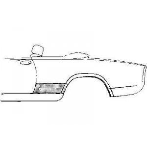 Tole latéral gauche Fiat 124 Spider / Pininfrina