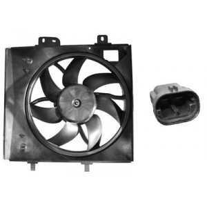 Ventilateur de refroidissement moteur Peugeot 207 2006-2012 (90W, complet)